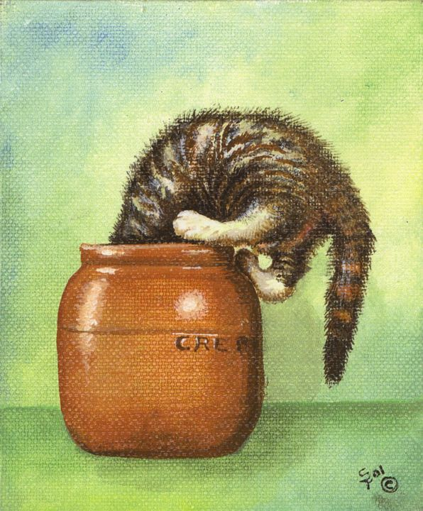 Kitten in Cream - Pia's Contemporary Art Collection
