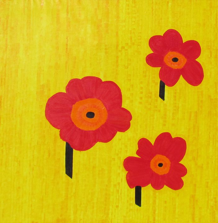 Flower Field - Pia's Contemporary Art Collection