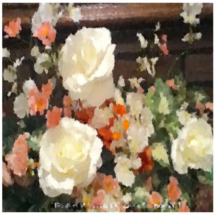 White Rose Markers - White Flower Guys