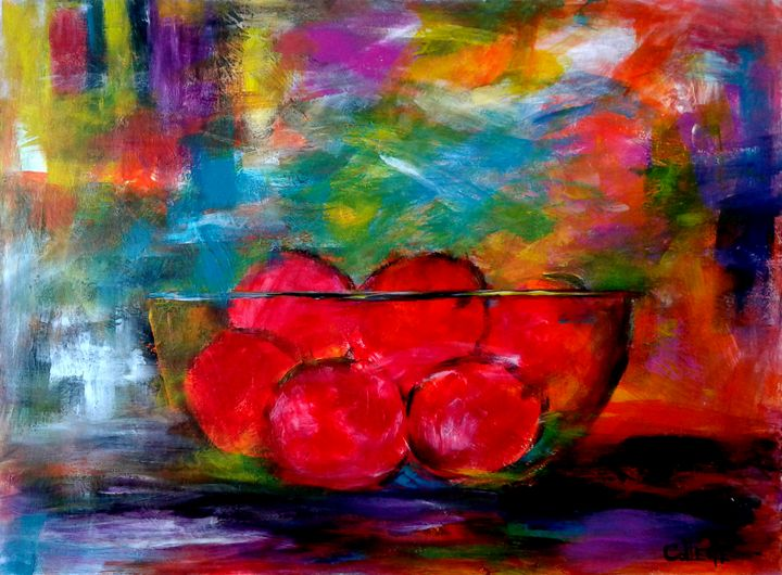 FRUIT IN GLASS BOWL - COLLETTE J PEREIRA