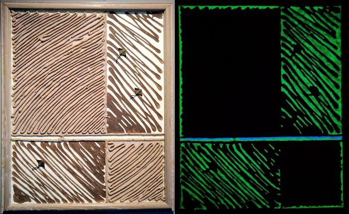 Rays: Photoluminescent painting - Daily Epiphany Studio: MIchele Burns