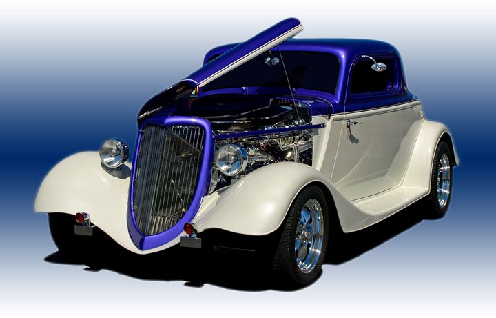 _3158107 Hot Rod Clipped Blue/White - Stephen Ham Photography