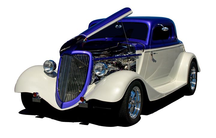 _3158107 Hot Rod Clipped White - Stephen Ham Photography