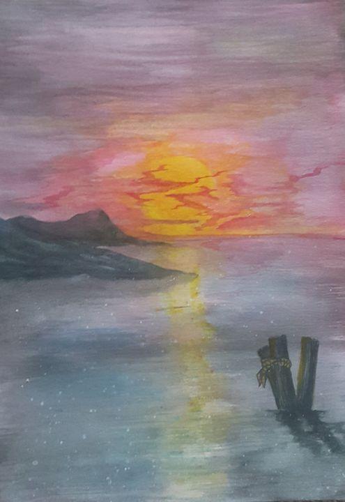 Sunset over the bay - skoobaart