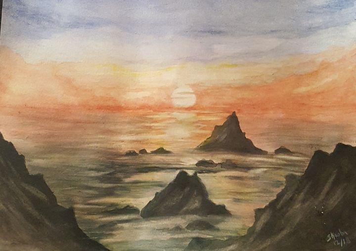Ocean sunset - skoobaart