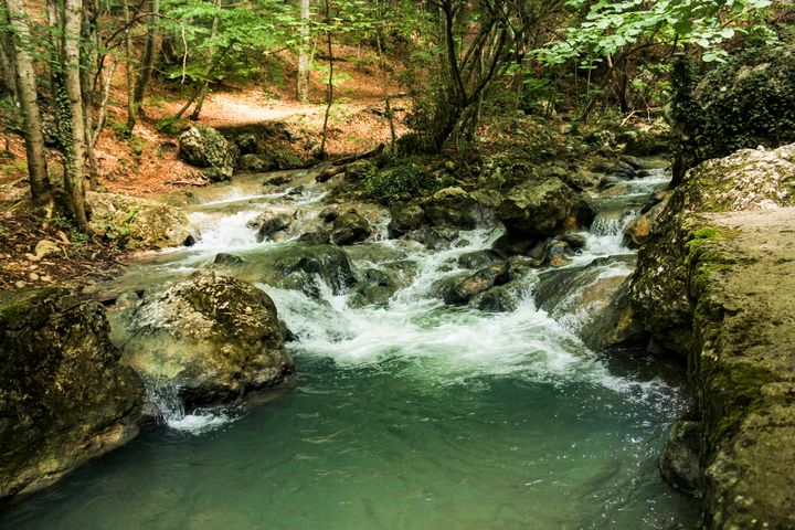 Water flow of the Grand Crimean Cany - German S