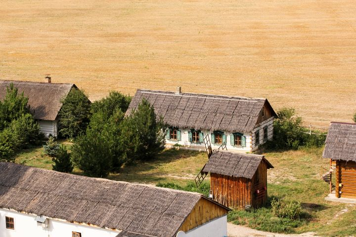 Settlement on the edge of the field. - German S