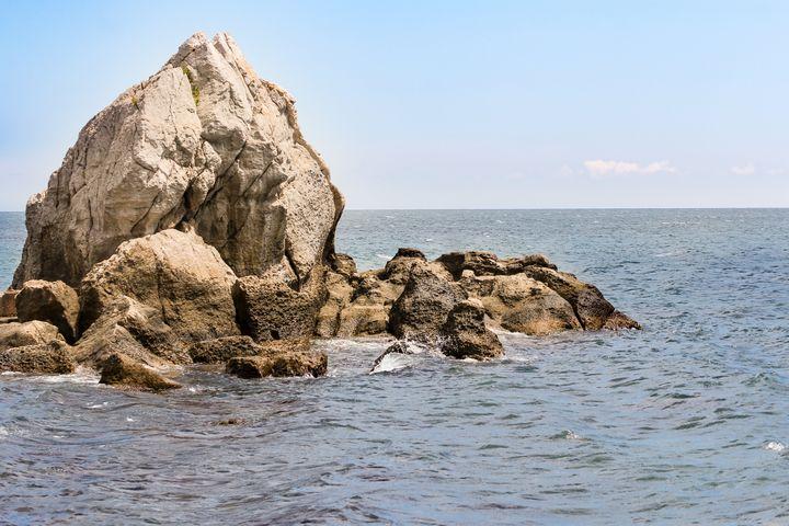 Rocks in the sea. - German S