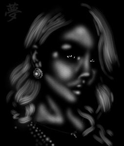 Beautiful woman in chiaroscuro.