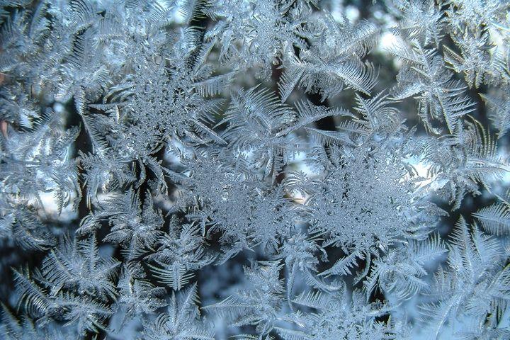 Frosty pattern on glass. - German S