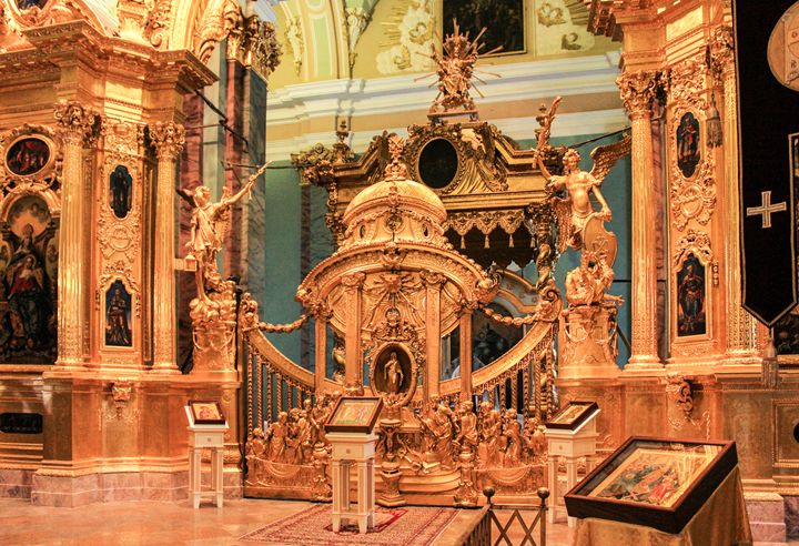 Gates and golden iconostasis - German S
