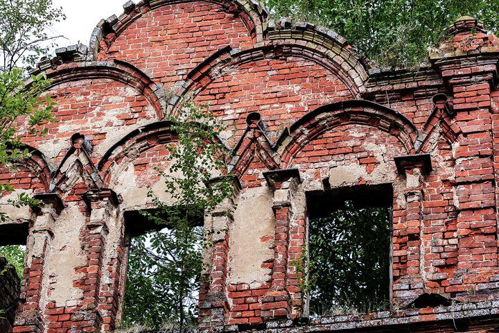 Complex decoration of ancient walls. - German S