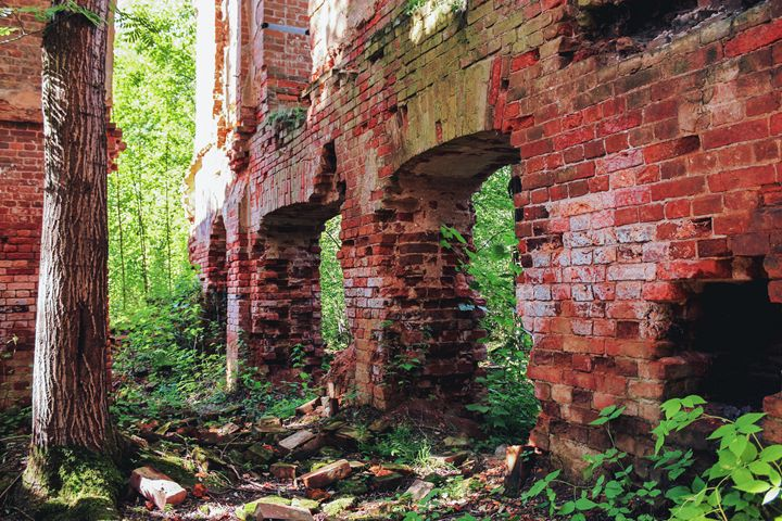 The crumbling walls of an ancient mo - German S