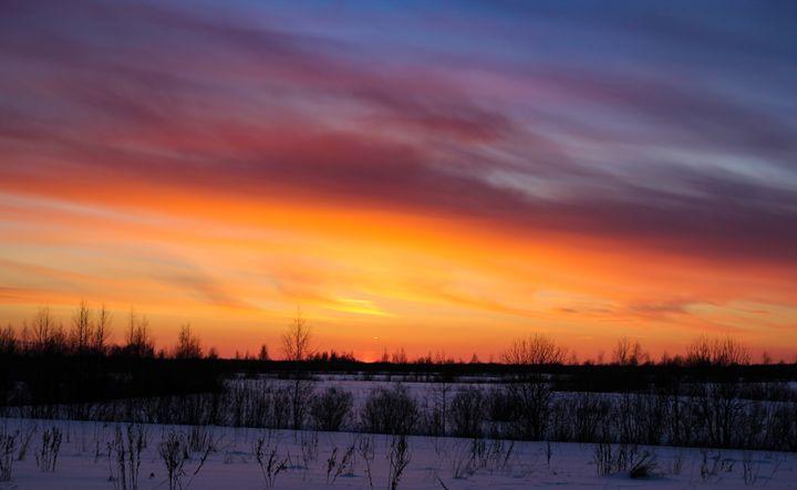 Crimson winter sunset. - German S