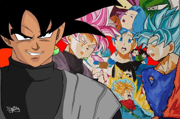 Goku Black Painting (Revamped) - SplitRealityCreations
