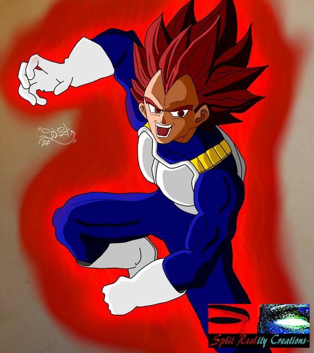 SSG Vegeta Fan Art - SplitRealityCreations