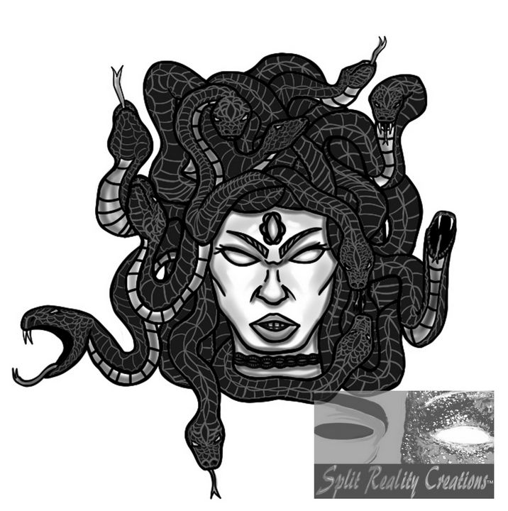 Medusa Tattoo Design - SplitRealityCreations