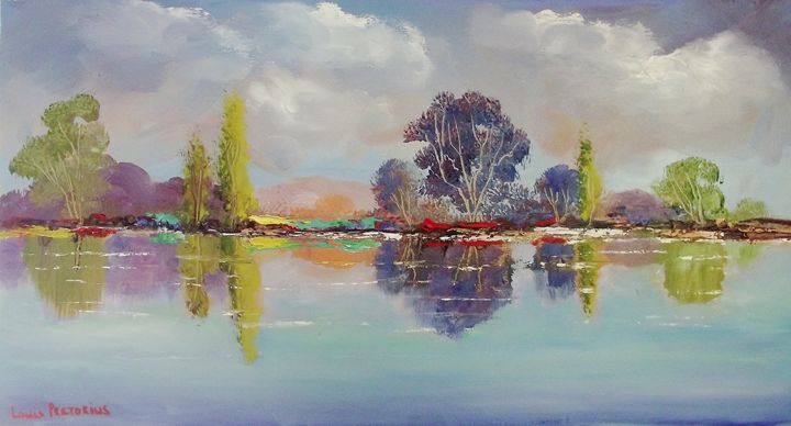 600 x 320 x 20 blue reflection - Louis Pretorius art