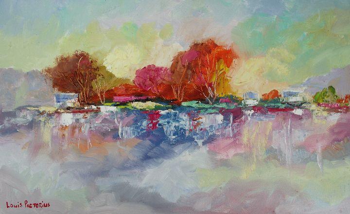 Colored Trees - Louis Pretorius art