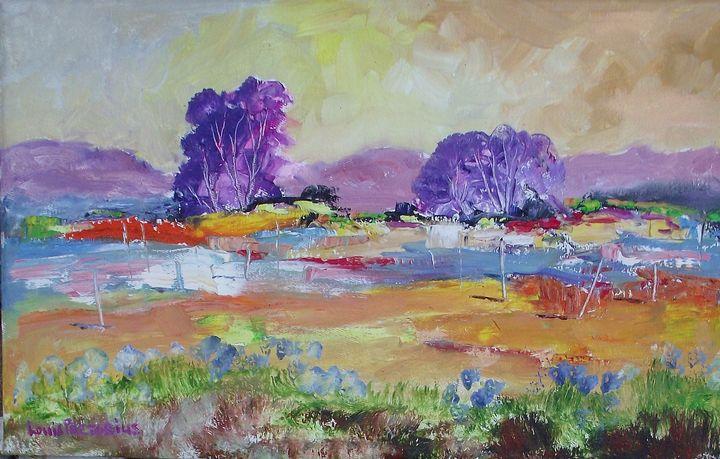 Violet  & Blue - Louis Pretorius art