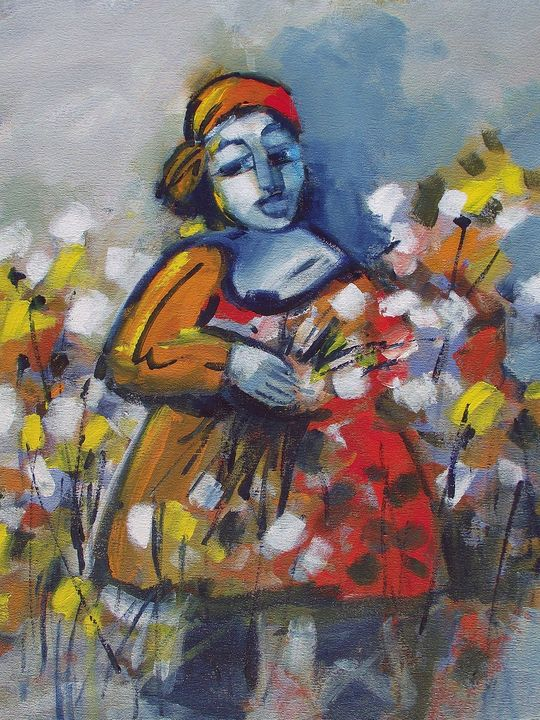 Flower Lady - Louis Pretorius art