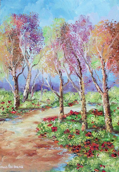 Veld Flowers - Louis Pretorius art