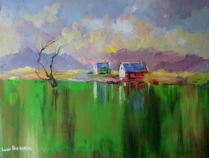 Green is my Valley - Louis Pretorius art