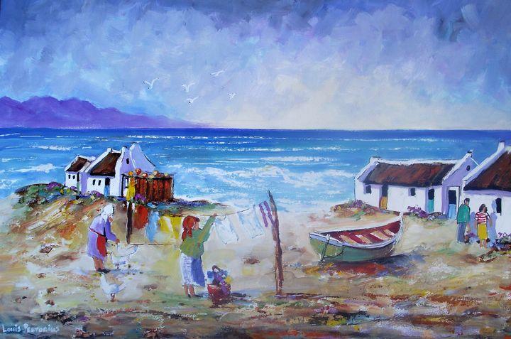 Fisherman's Cottages - Louis Pretorius art