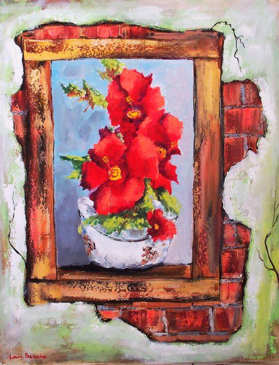 Window Flowers - Louis Pretorius art