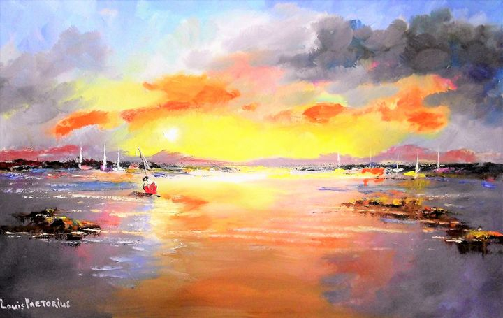Sunset Boats - Louis Pretorius art