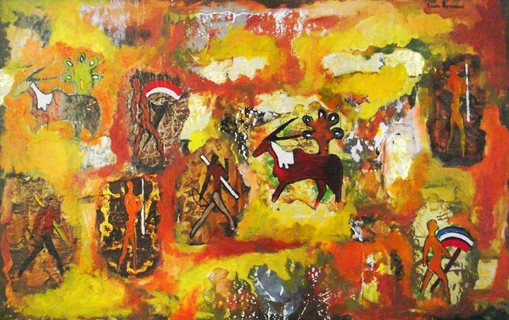 """Bushman"" - Louis Pretorius art"