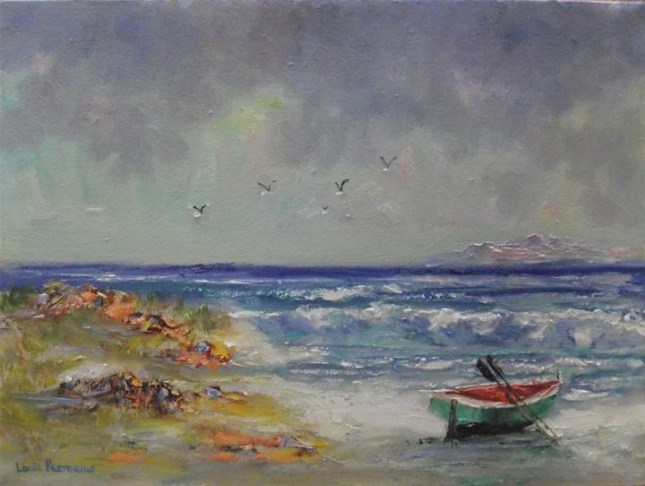 Resting on the Beach - Louis Pretorius art