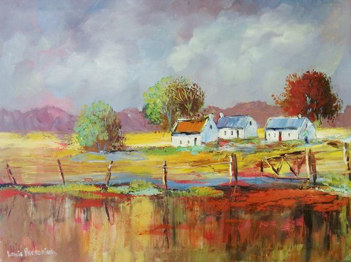 Fence Cottages - Louis Pretorius art