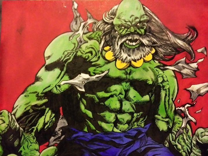 Incredible hulk - Against the grain art