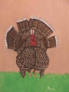 Wild north American turkey