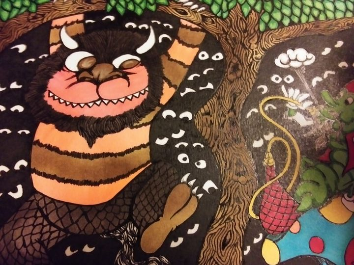 Where the wild things are and Alice. - Against the grain art