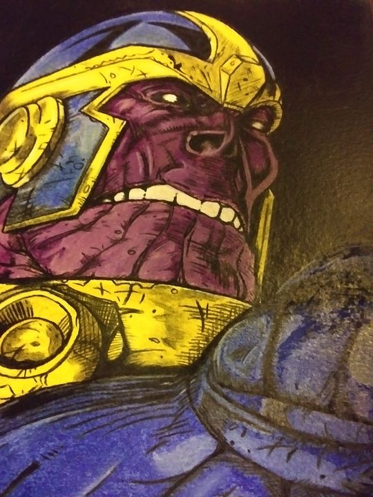 Thanos - Against the grain art