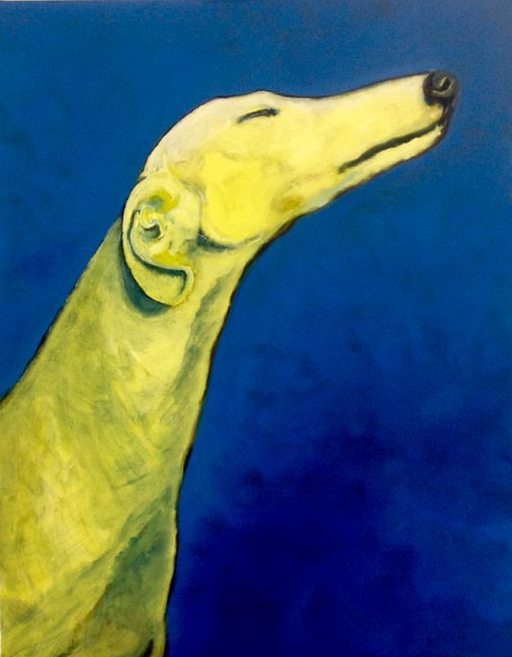 French Riviera greyhound - Painting pets by V.MaYaN
