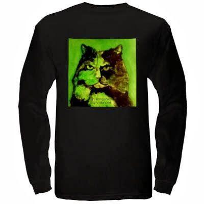 Long sleeves  shirt - Painting pets by V.MaYaN