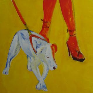 Chien laisse et jambes - Painting pets by V.MaYaN