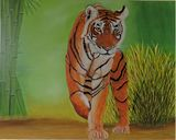 Original Oil painting of Tiger
