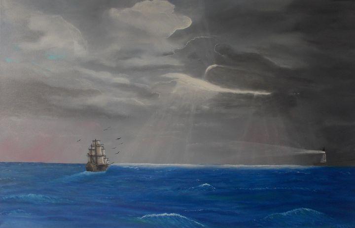 Ship on ocean - Gregory Shinn