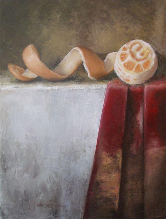Red cloth with orange - J.VandePerre