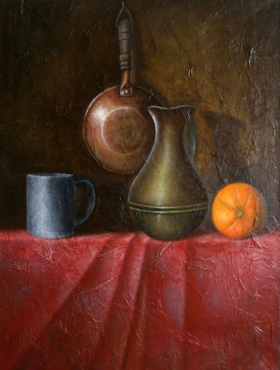 Still life with orange - J.VandePerre