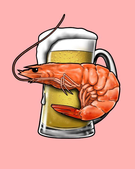 Shrimp and beer mug - ishmiakov