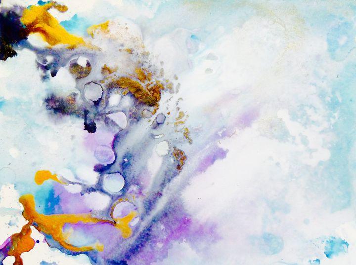 Flow-Ink on Mixed Media paper - J V G - Art