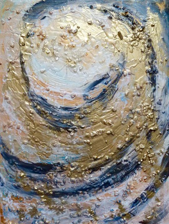 Flow-Circle - Mixed Media on Canvas - J V G - Art