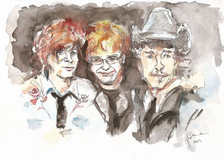 Ryan Adams, Elton John, Bob Dylan - J V G - Art
