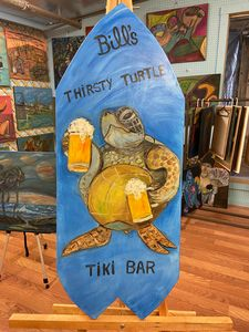 Thirsty turtle