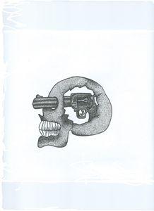 Dot work tattoo style skull